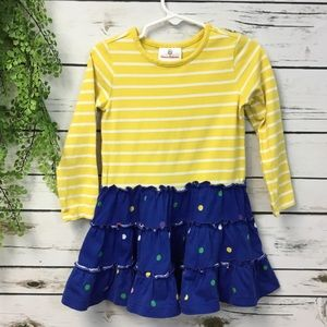Hanna andersson yellow blue polka dots size 90 2-3